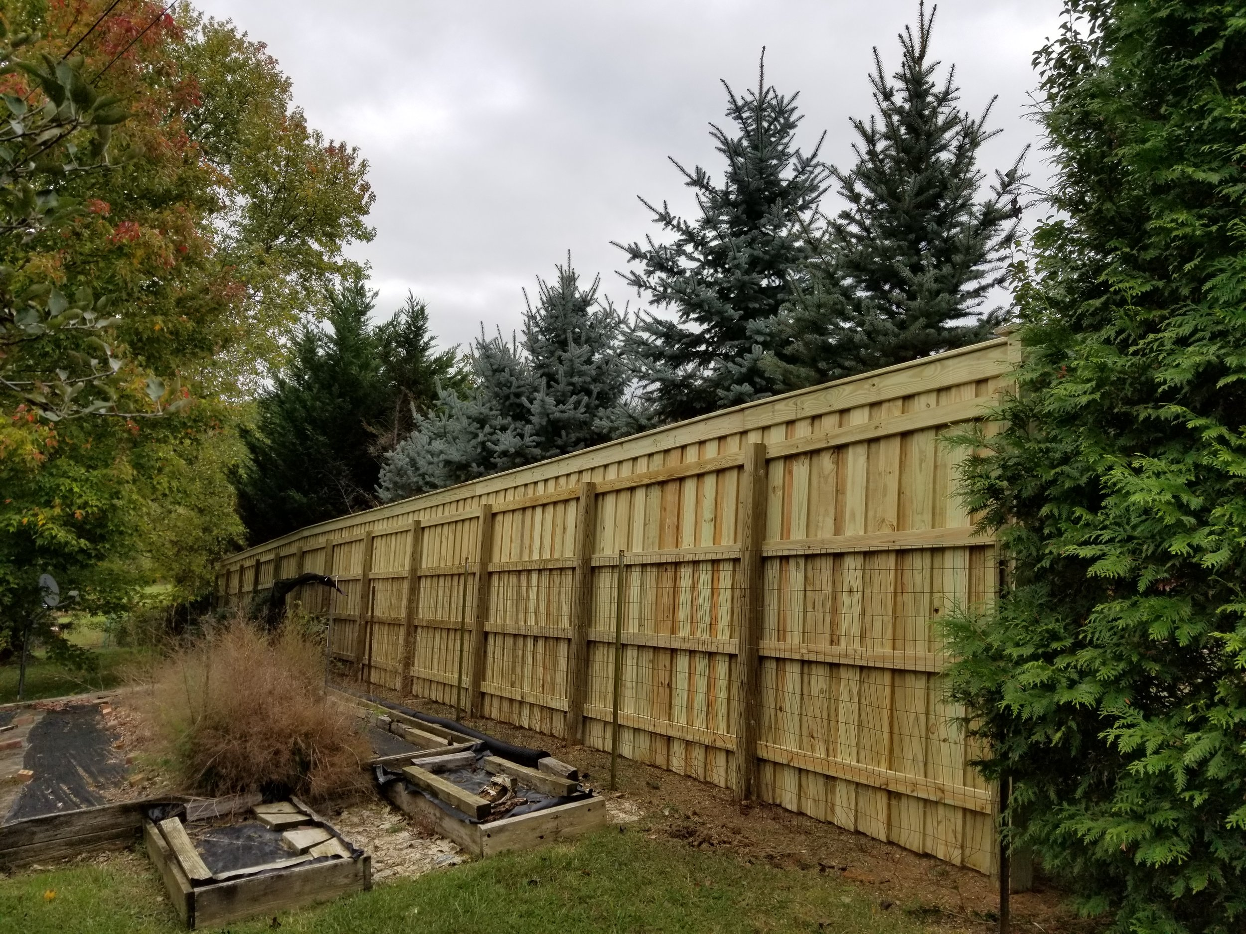 New Wood Privacy Fence 190 Feet (Gray, Tn)