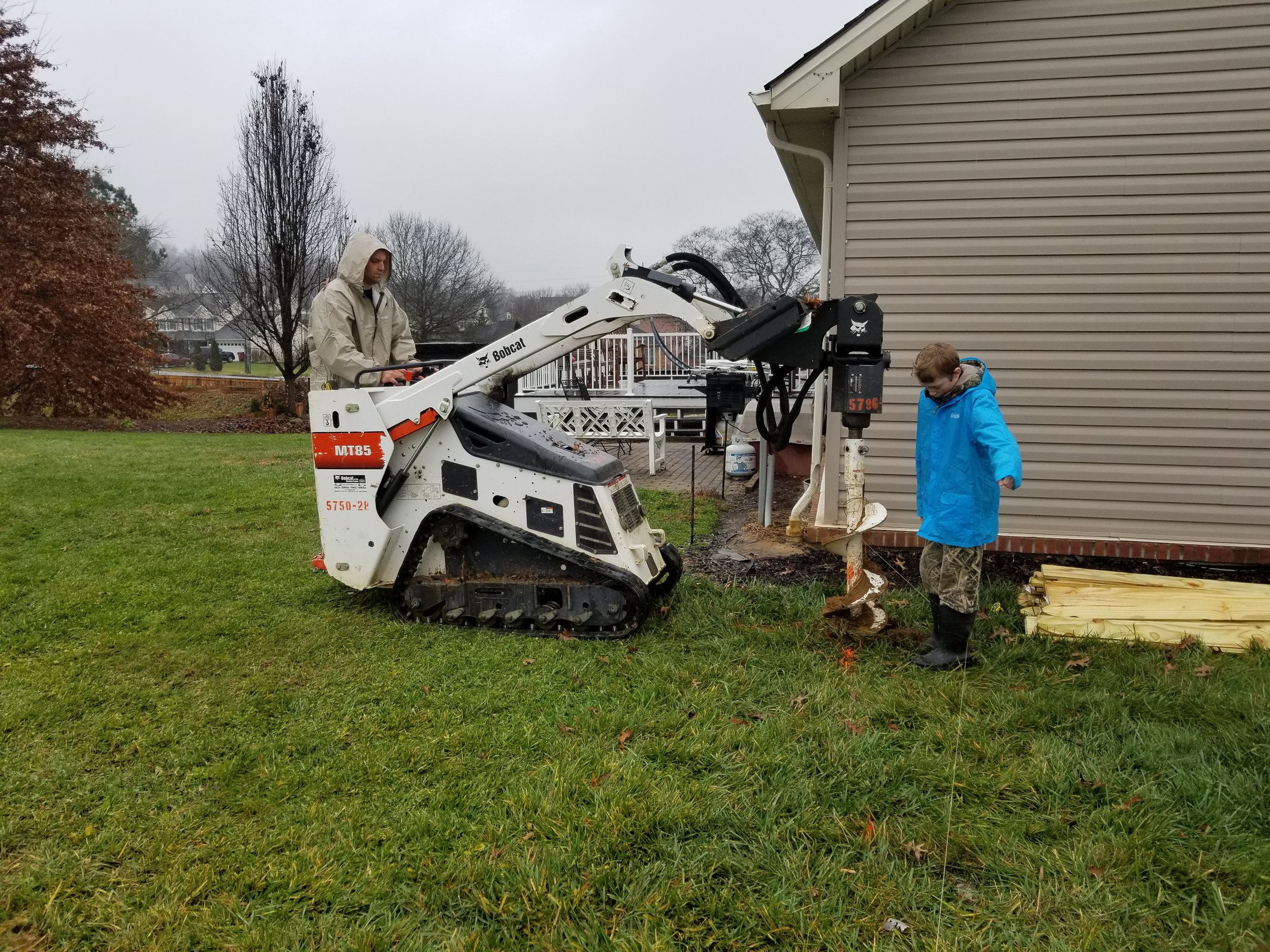 Digging Holes With Bobcat (Johnson City, Tn)