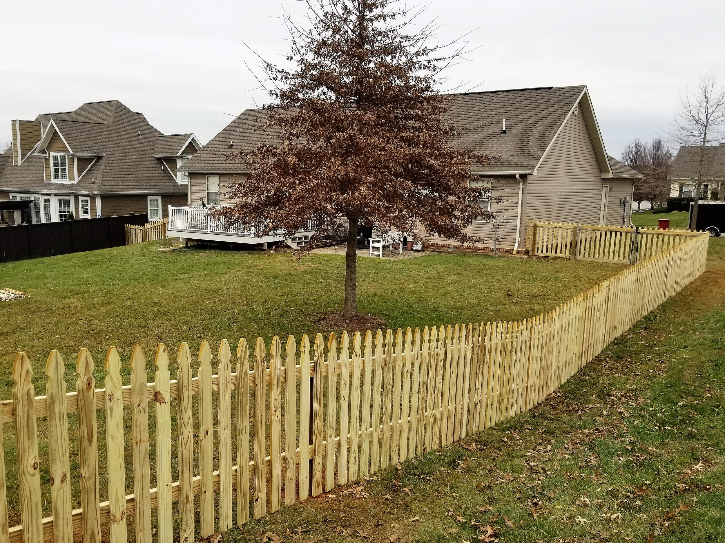 New Picket Wood Fence 330 Feet (Johnson City, Tn)