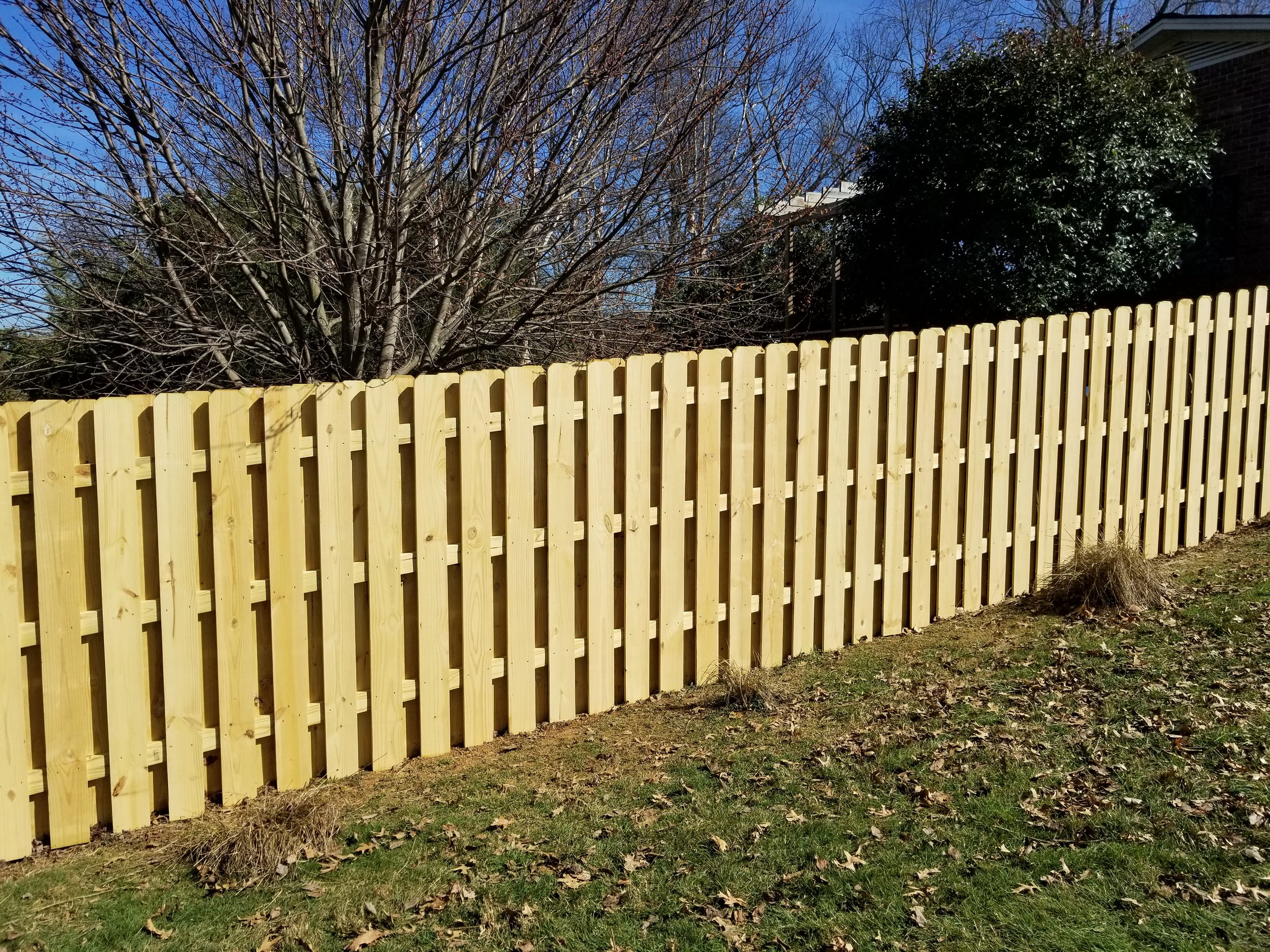 New Shadowbox Wood Fence 160 Feet (Johnson City, Tn)