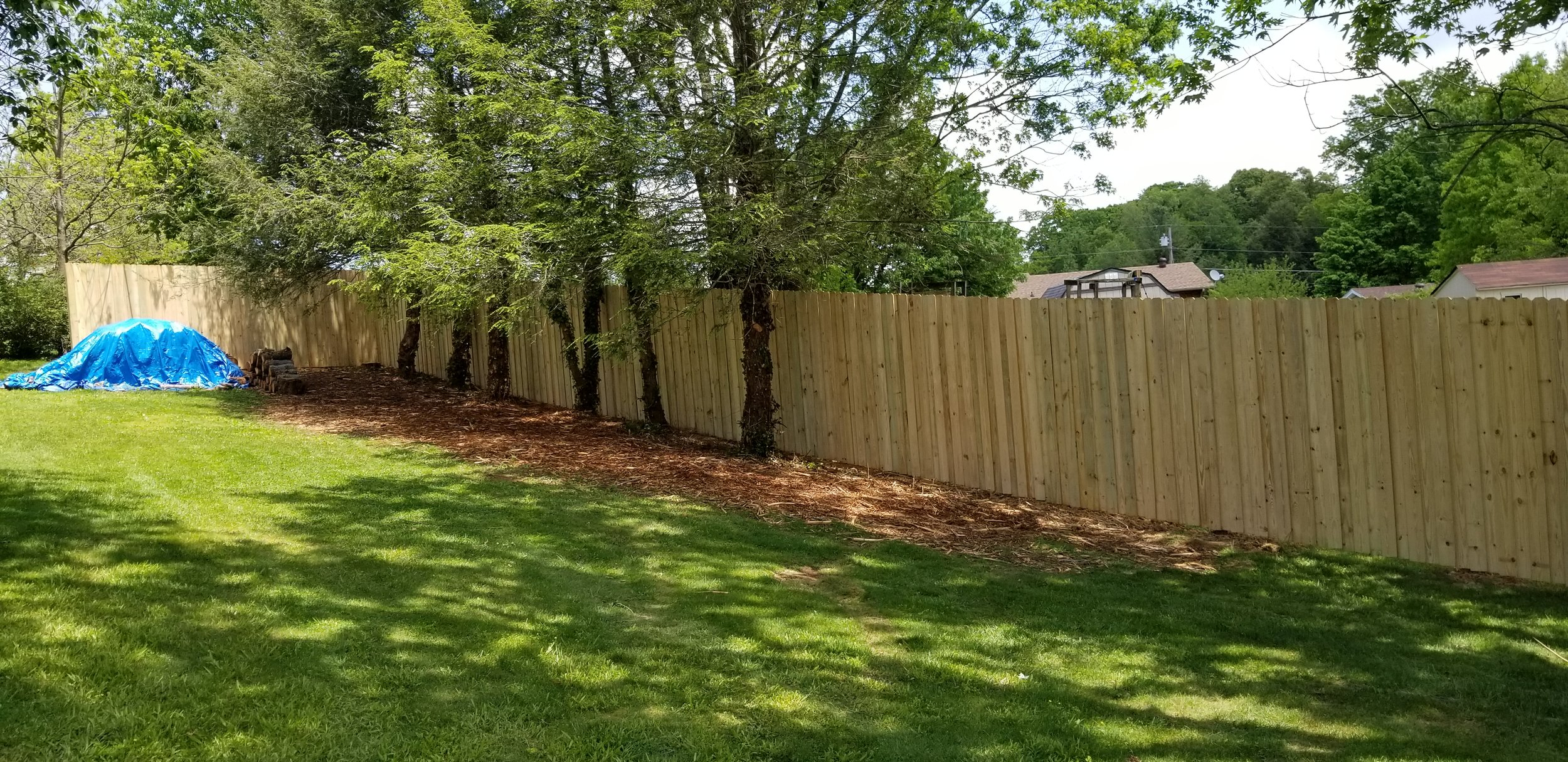 New Wood Privacy Fence 220 Feet (Jonesborough, Tn)