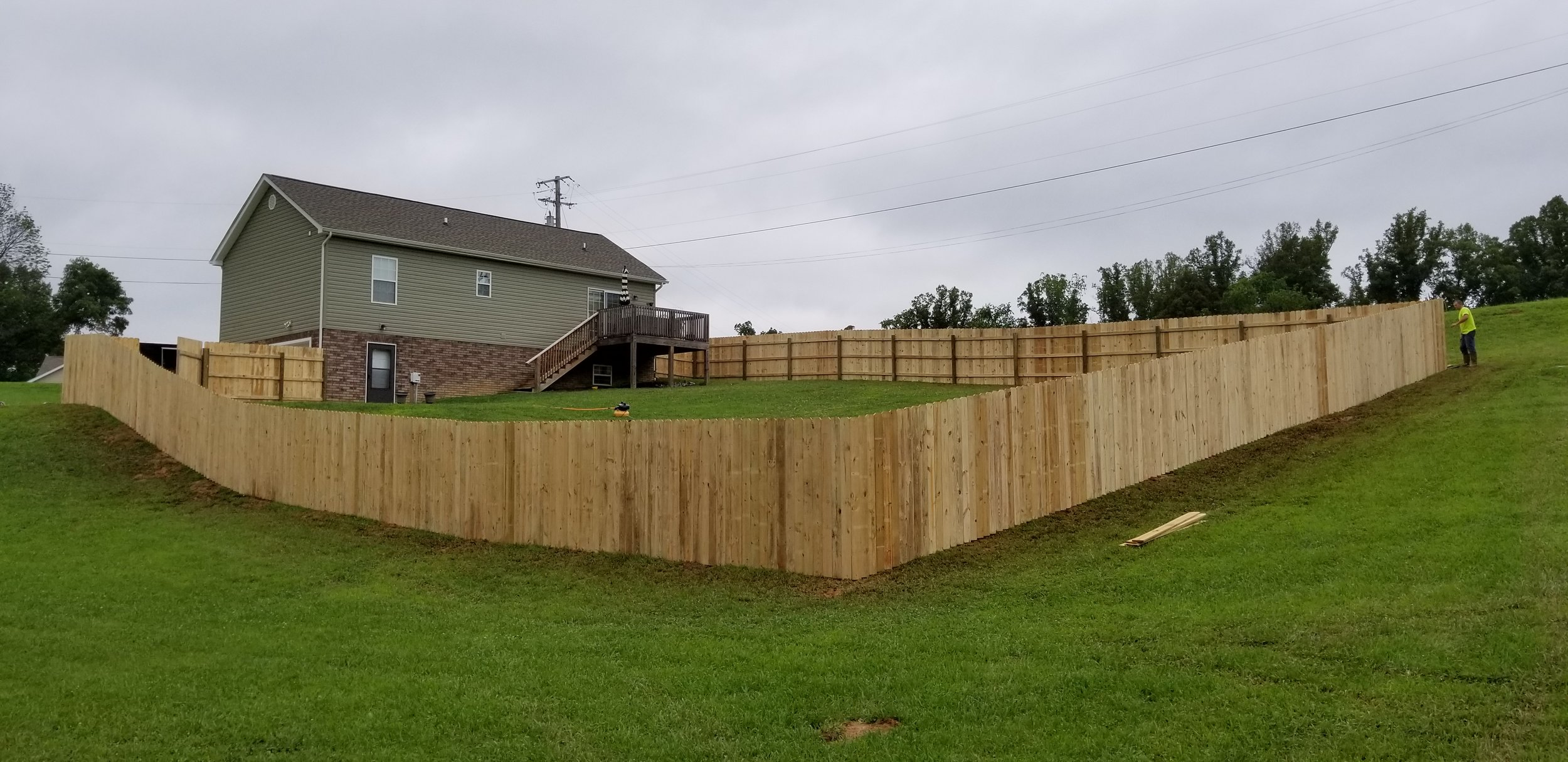 New Pine Privacy Fence, 340 Feet (Elizabethton, Tn)
