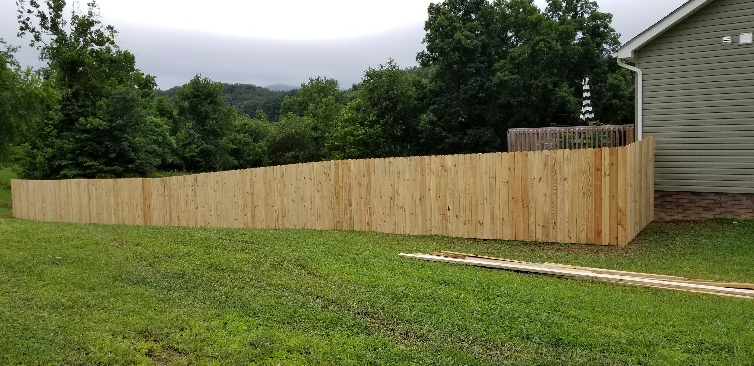 New Pine Privacy Fence (Elizabethton, Tn)