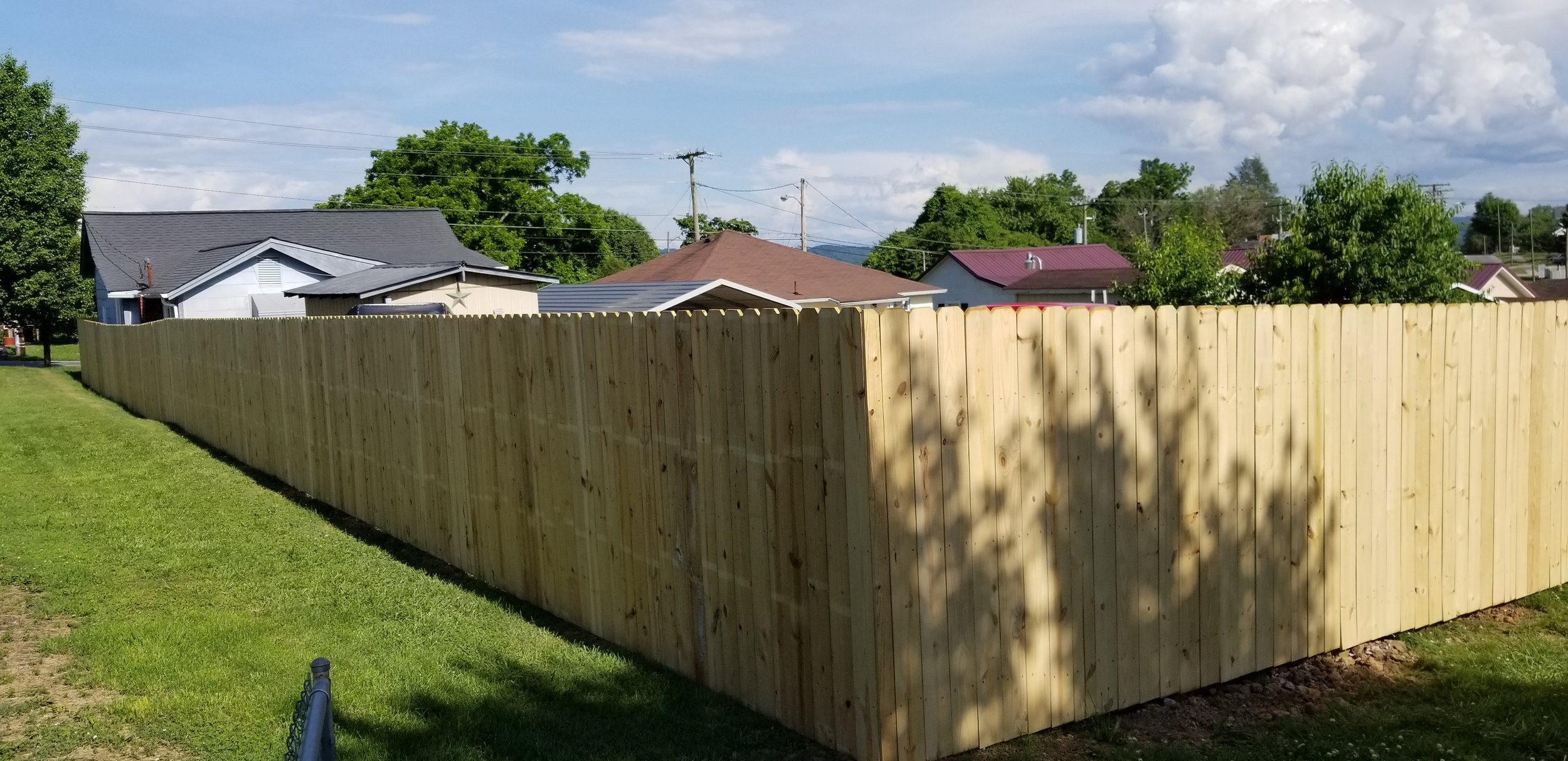 New Wood Privacy Fence (Kingsport, Tn)