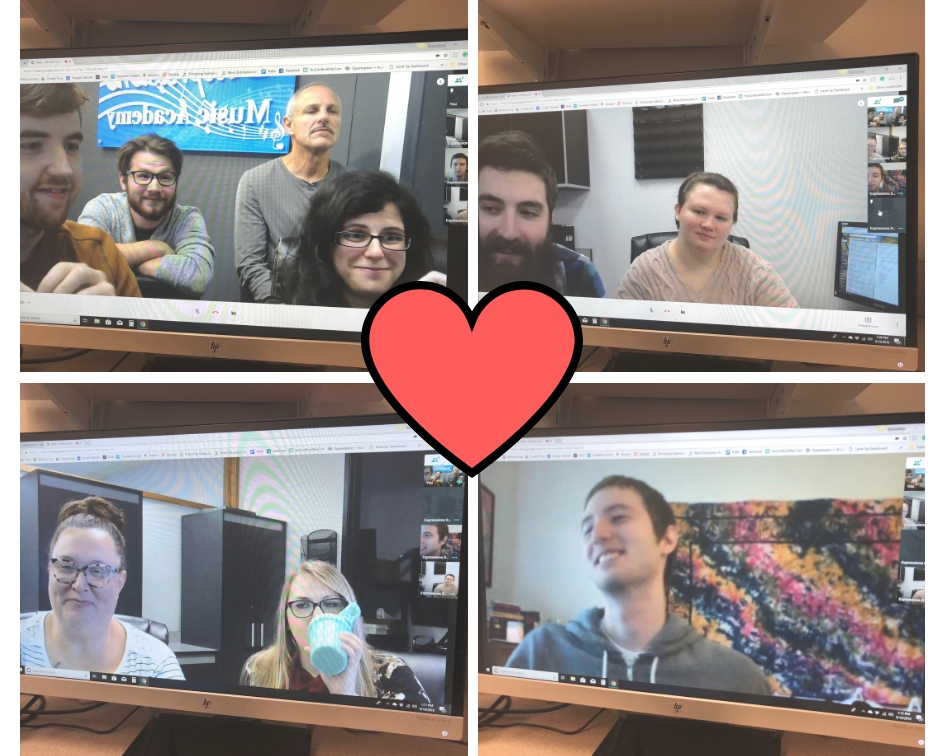 Screenshots from our weekly Monday video admin meeting!