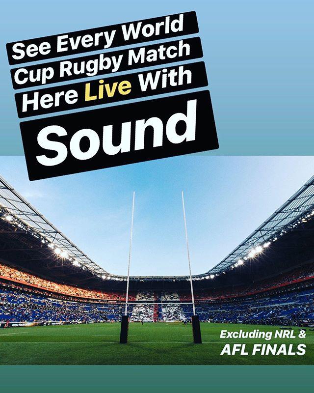 Here! Live! World Cup Rugby 🏉 @cricketersarmsbalmain #carnthewallabies #balmainpubs #innerwestpubs #sydneysportsbars #rugbyworldcup #cricketersarmsbalmain