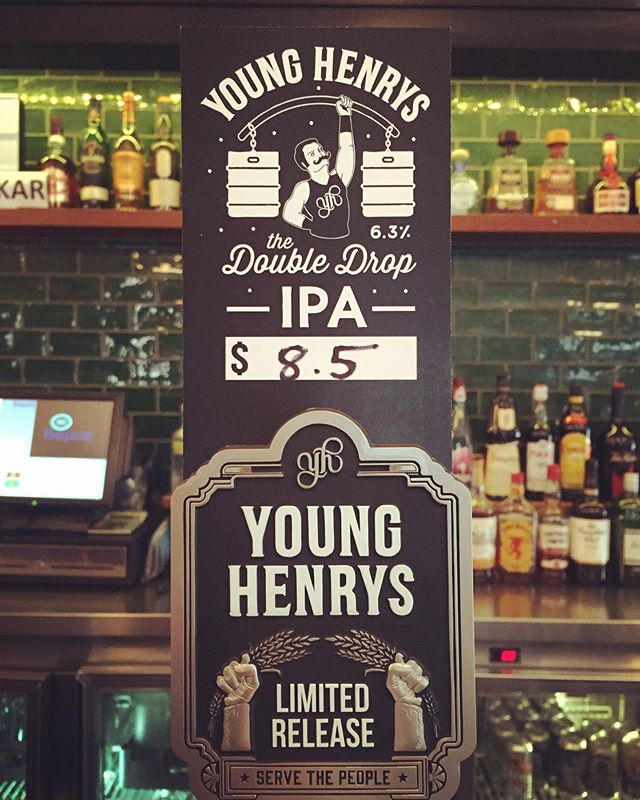 Now pouring Young Henrys Double Drop..! Stop by this long weekend for a nice cold brew 👊 @cricketersarmsbalmain @younghenrys #cricketersarmsbalmain #younghenrysbrewery #servethepeople #craftbeersydney