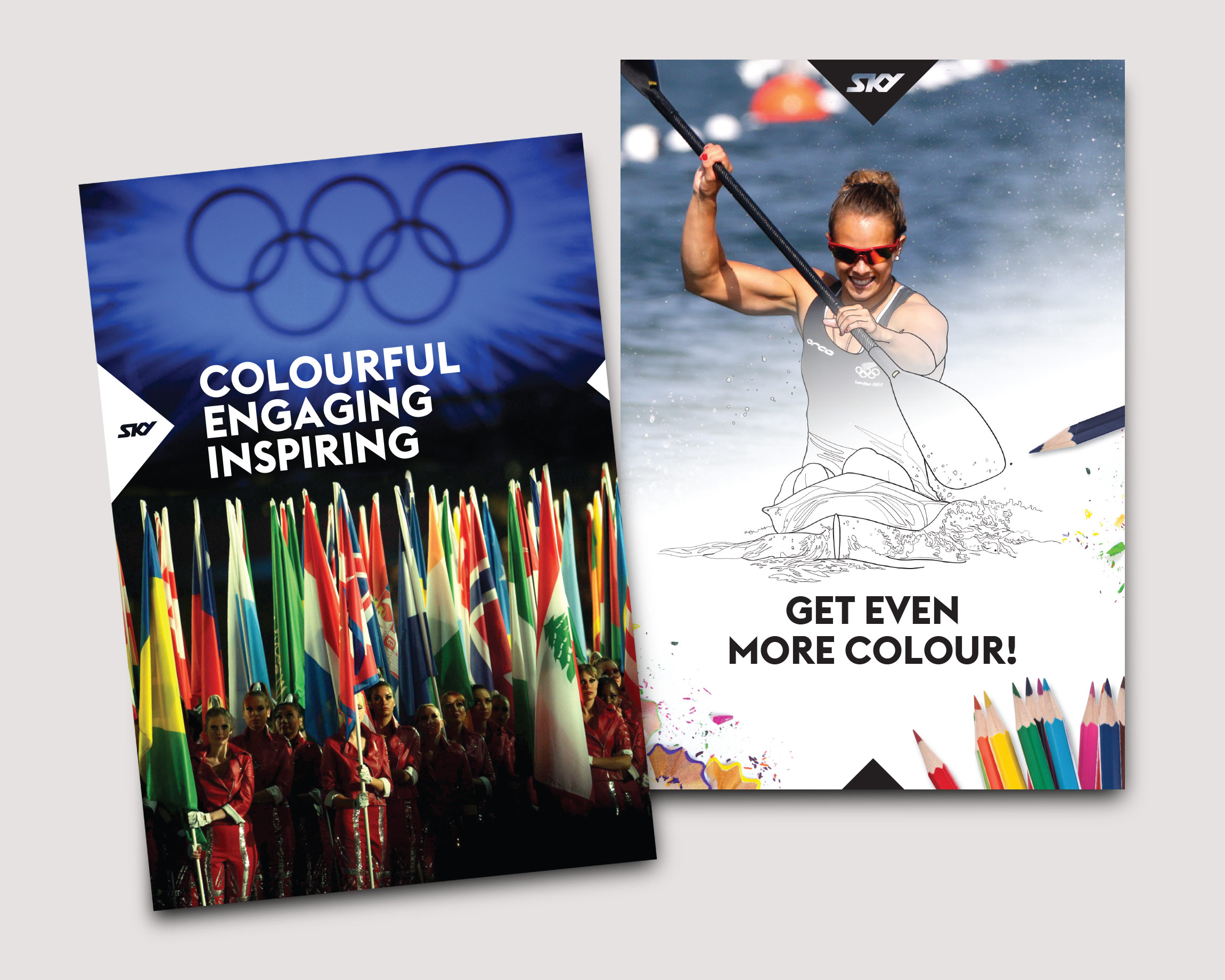 RIO Olympics 2016 broadcast sponsorship proposal brochure: design