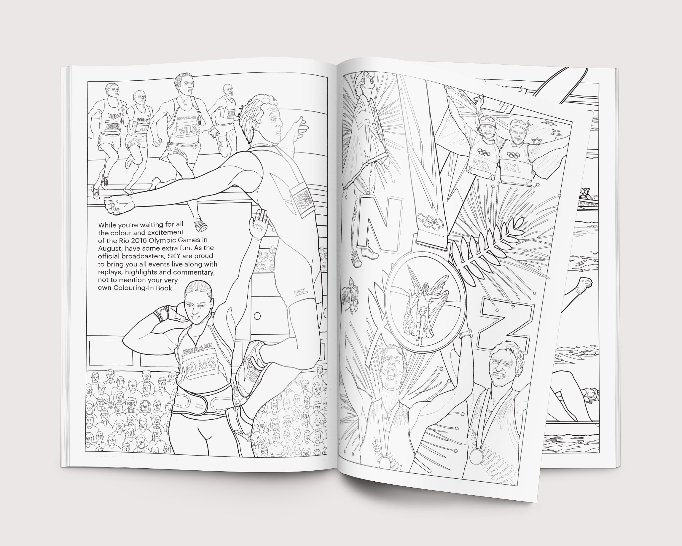 RIO Olympics 2016 broadcast sponsorship proposal brochure: art direction