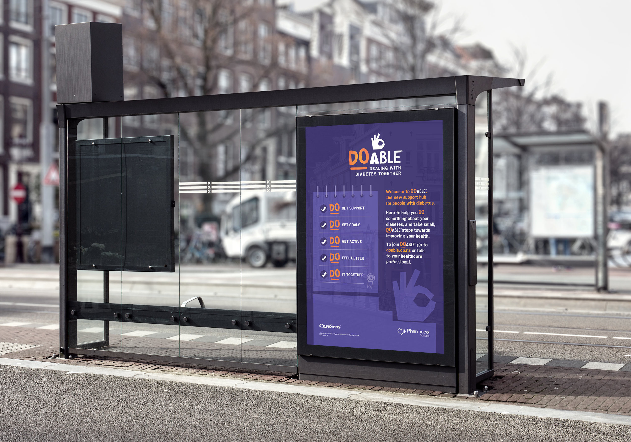 Adshel posters: branding, design