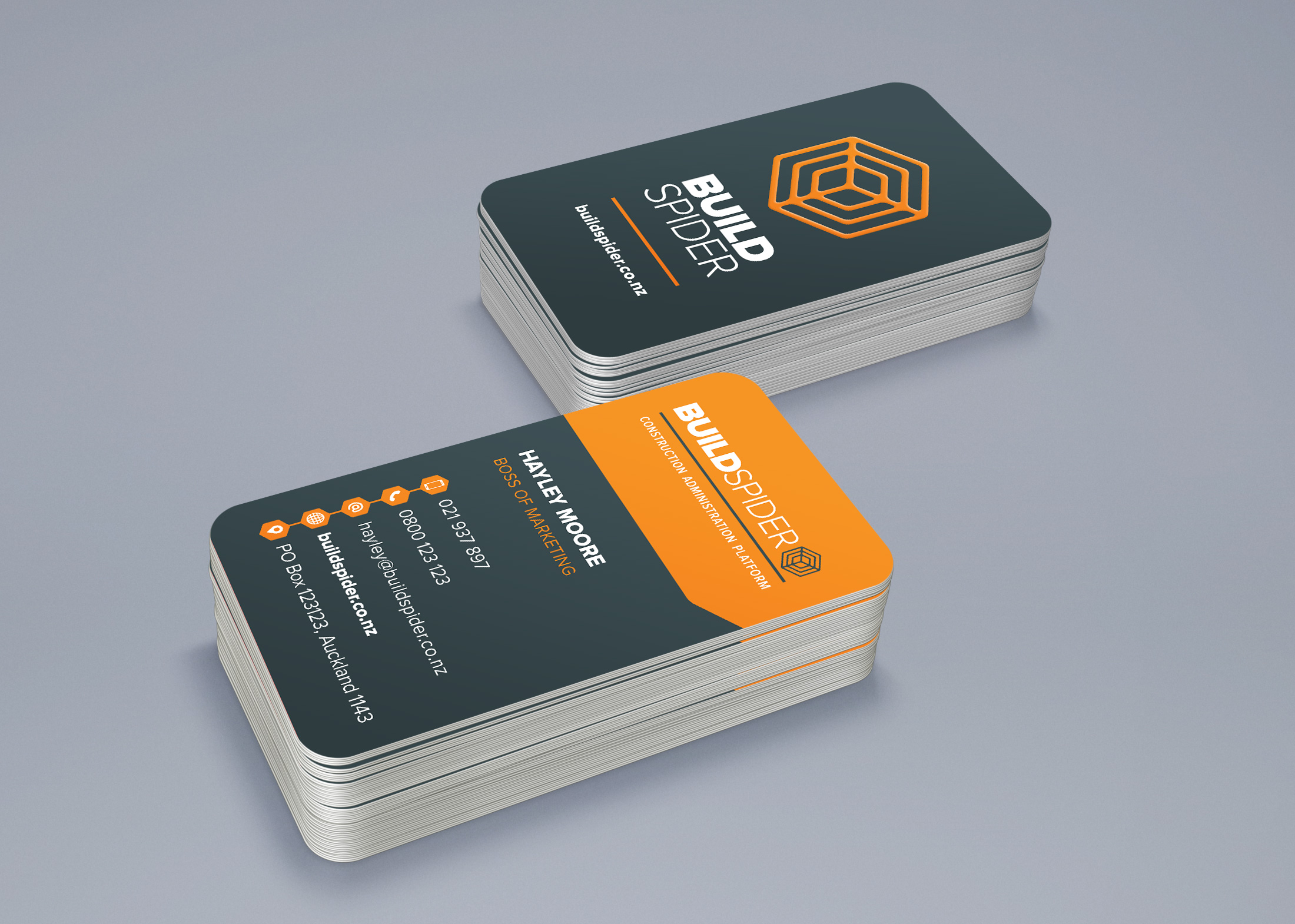 Business cards and supporting collateral: design, print management