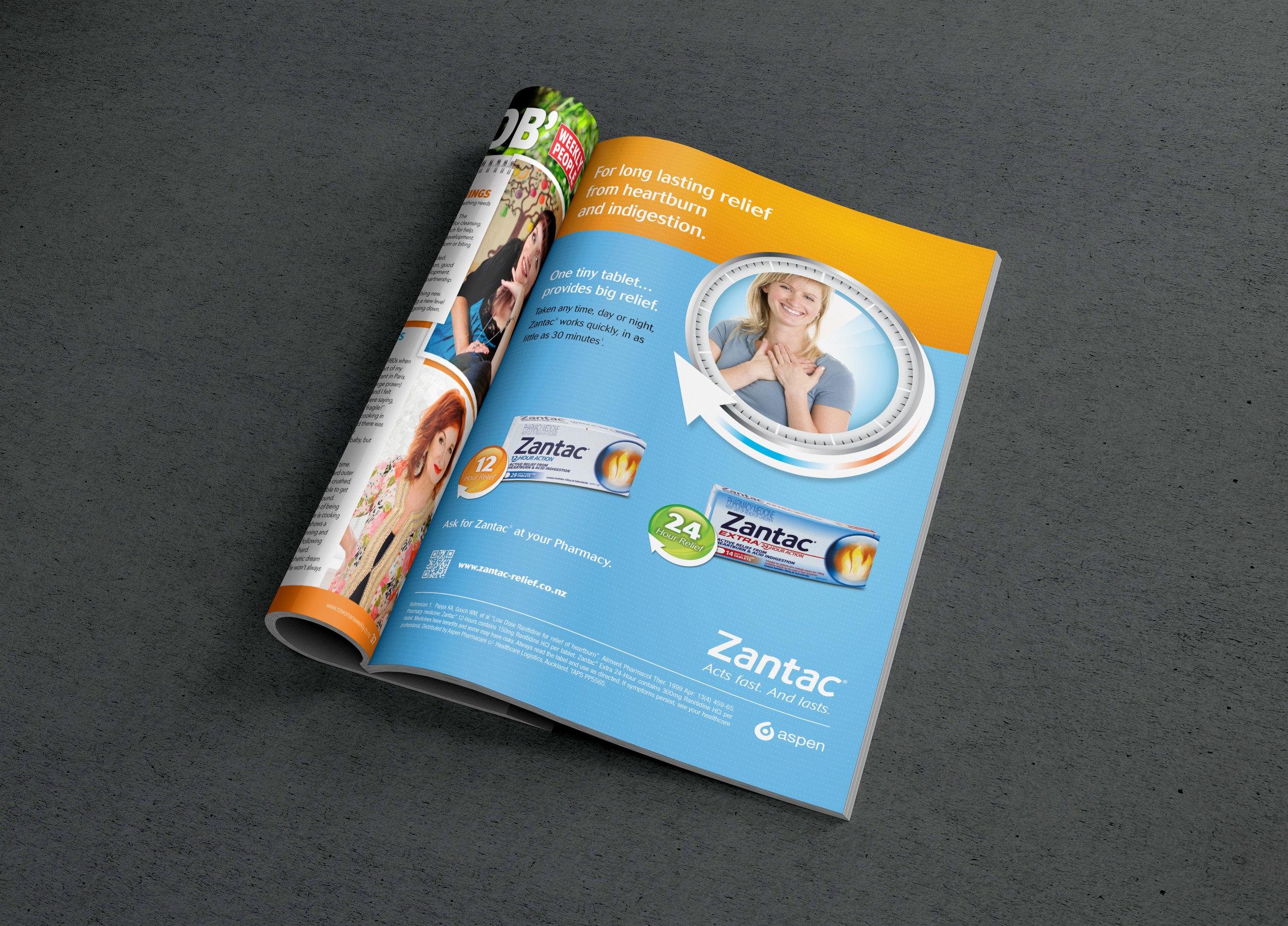 Zantac - Consumer campaign:  creative direction,design