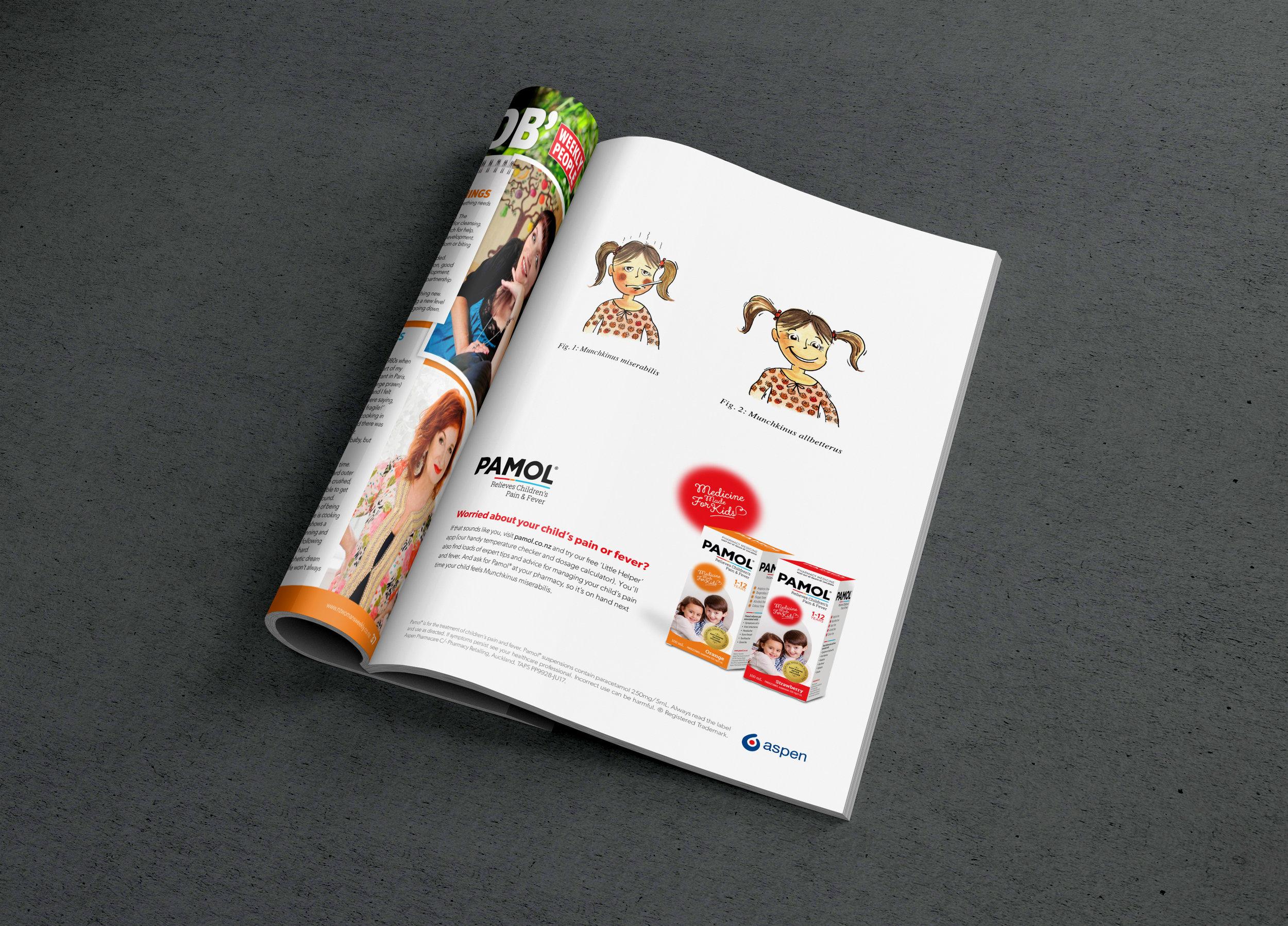 Pamol - Consumer campaign:  art direction,design