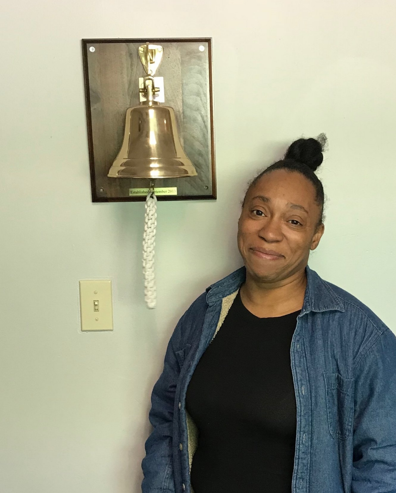 Tolandria came by to ring the bell at WorkFaith, and to let us know about this great new opportunity!