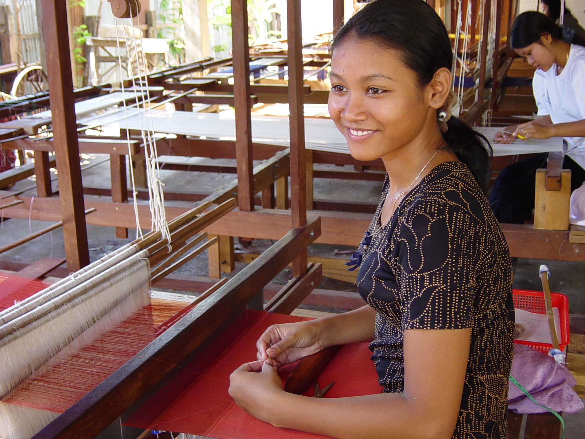 Mekong Blue, the social enterprise established by the Stung Treng Women's Development Centre to provide training and employment opportunities for women.