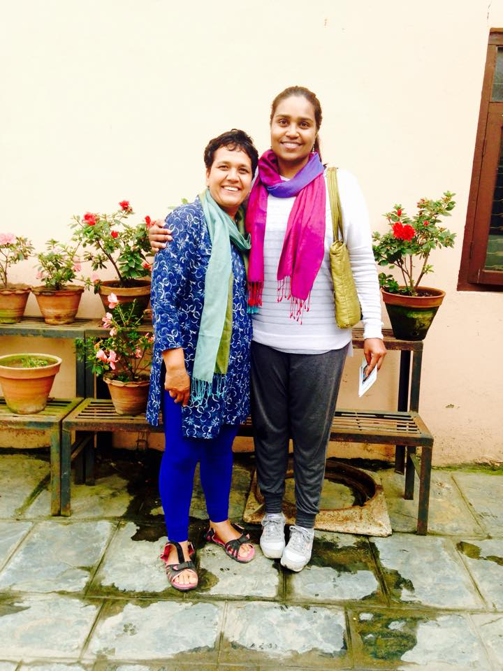 Shalini and Renu at WFN 17-9-15.jpg