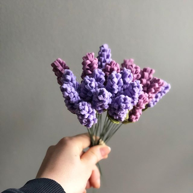 The lavender in my garden is just starting to bloom. But I'm impatient so yet again I made my own... . . . #feltflower #feltflowershop #feltflowers #feltflorist #feltflorals #lavender #fauxflowers #fauxflorals #feltlavender