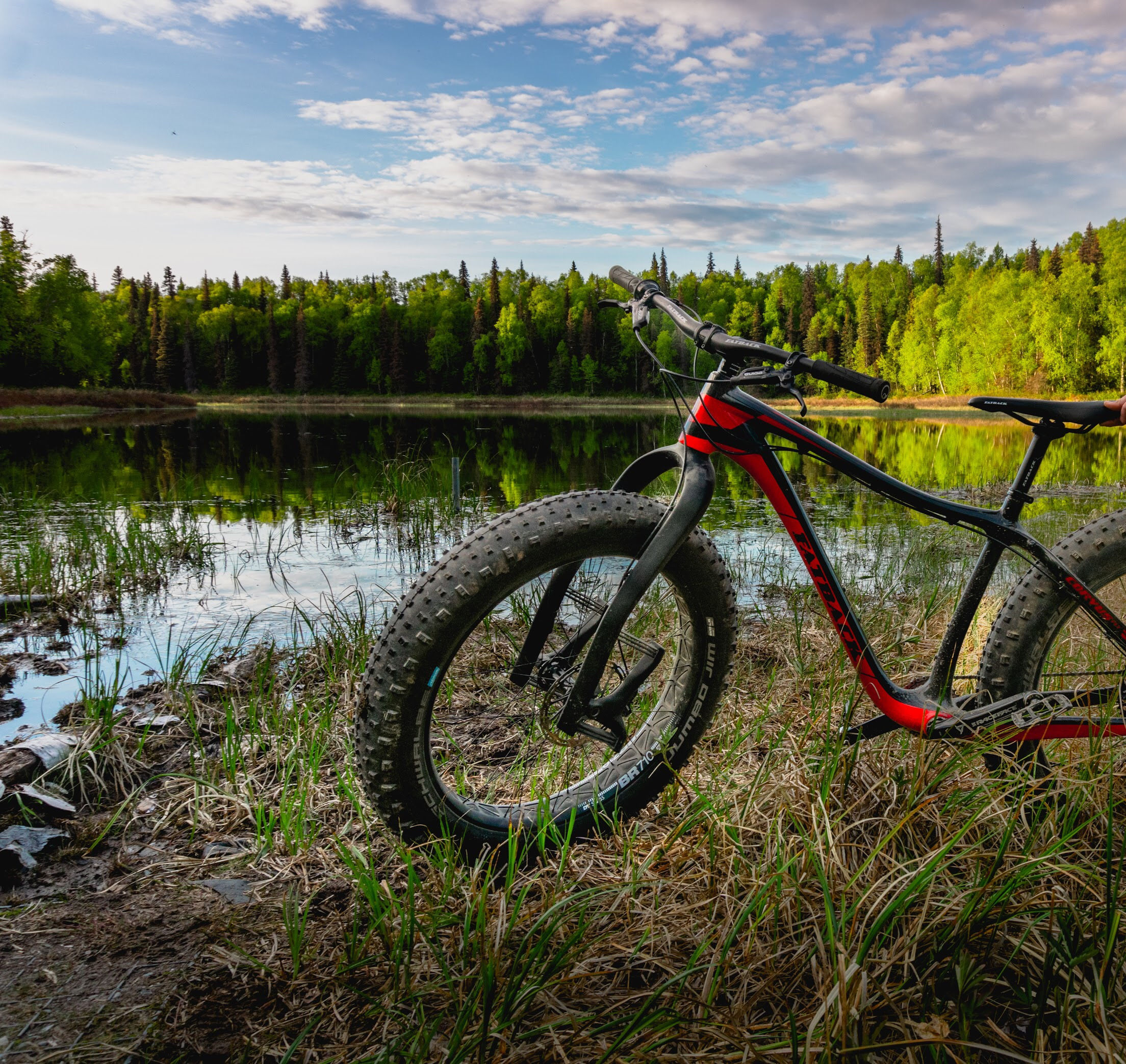 Our 2018 Fat Bike of the Year - The Fatback Corvus FLT at the Talkeetna lakes trail.