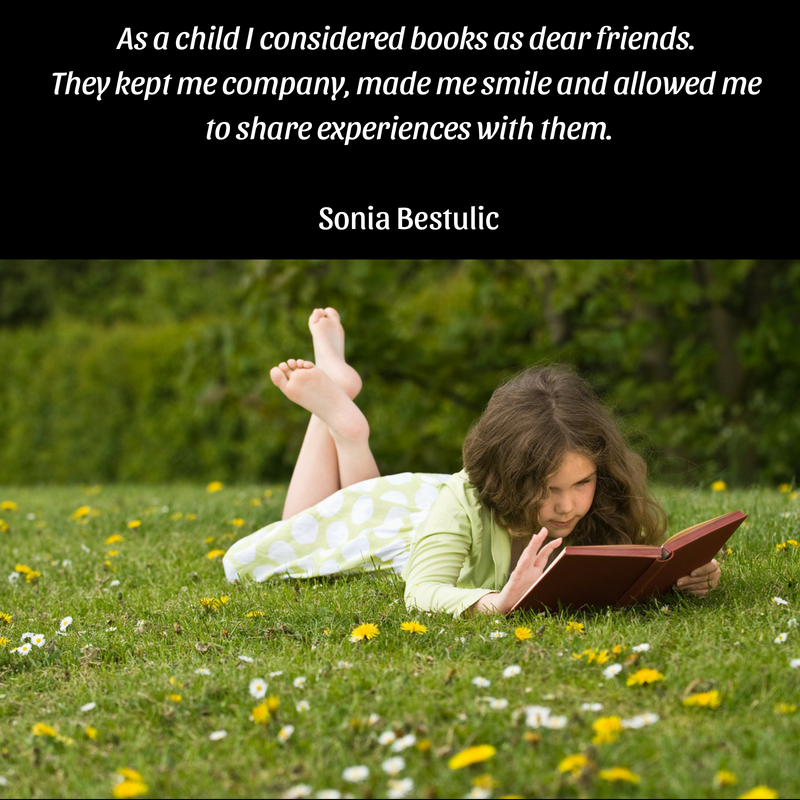 As a child I considered books like dear friends; they kept me company, made me smile and allowed me to share experiences with them.png