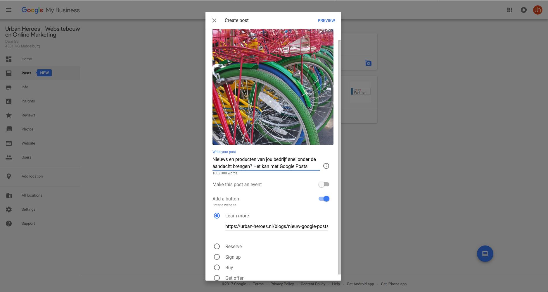 Google Post maken Urban Heroes_0.png