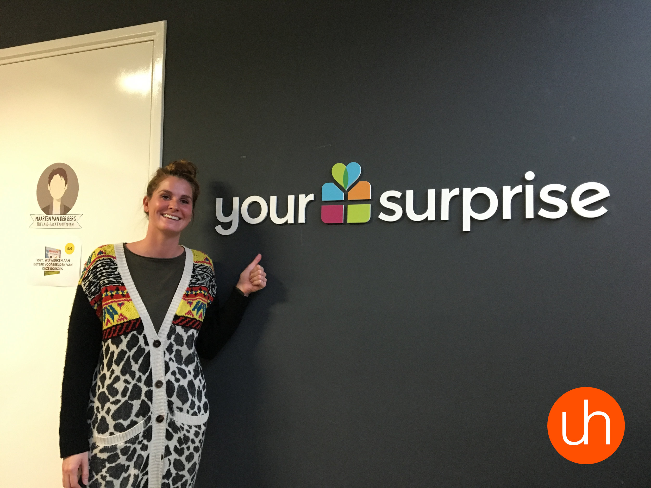 Giulia, één van de Duitse online marketeers, na afloop van onze tweede sessie bij YourSurprise!