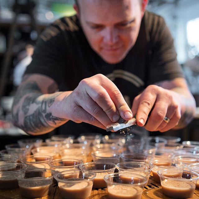 A little nutmeg shave from @woodfordreserve 🥃// #edsf @eatdrinksf #cocktails #bourbon