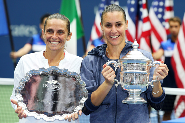 Roberta Vinci and Flavia Pennetta, US Open 2015 (Getty images)