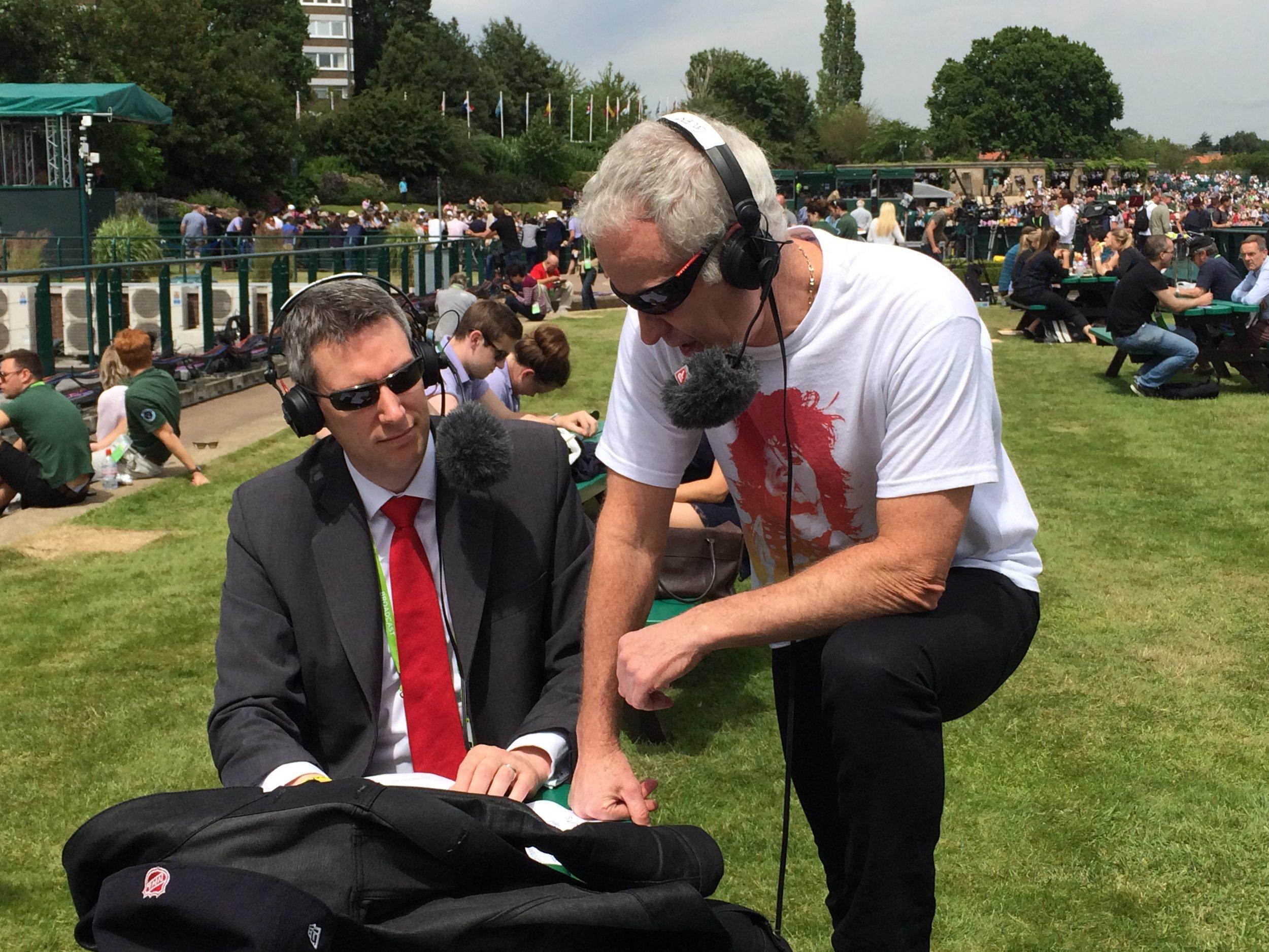 David with 'Commissioner McEnroe'