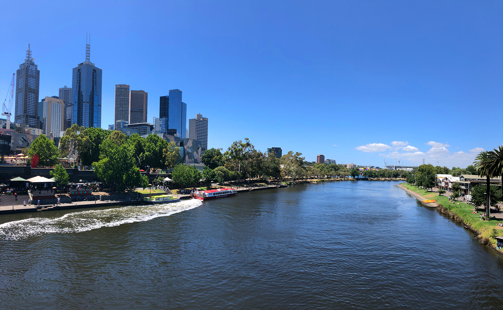 David's shot of the Yarra River earlier today