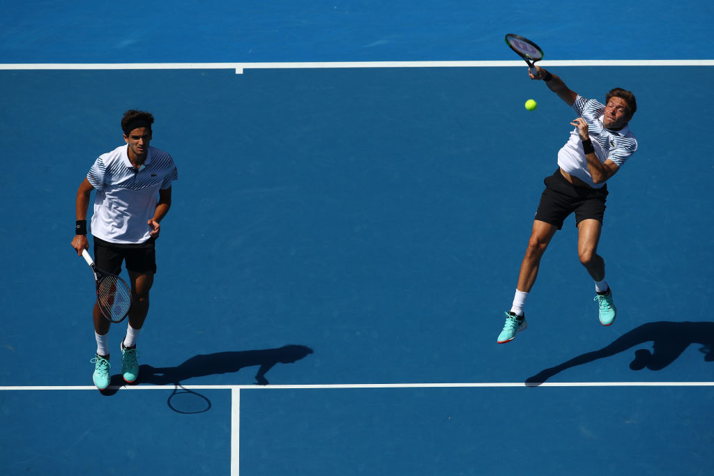 Pierre Hugues Herbert and Nicolas Mahut