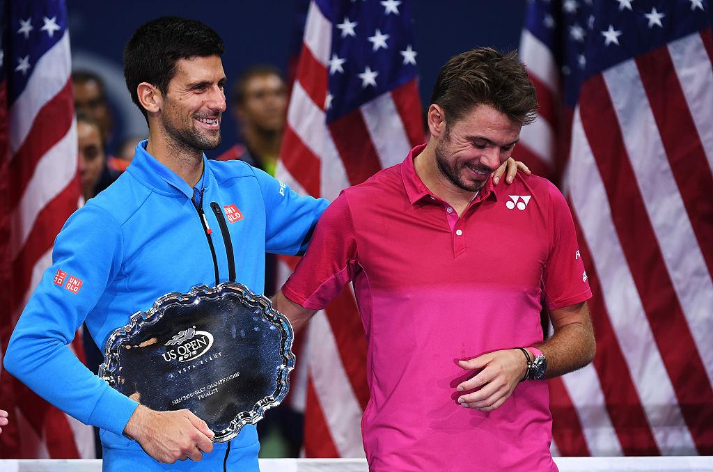 Novak Djokovic and Stan Wawrinka after the 2016 US Open final.