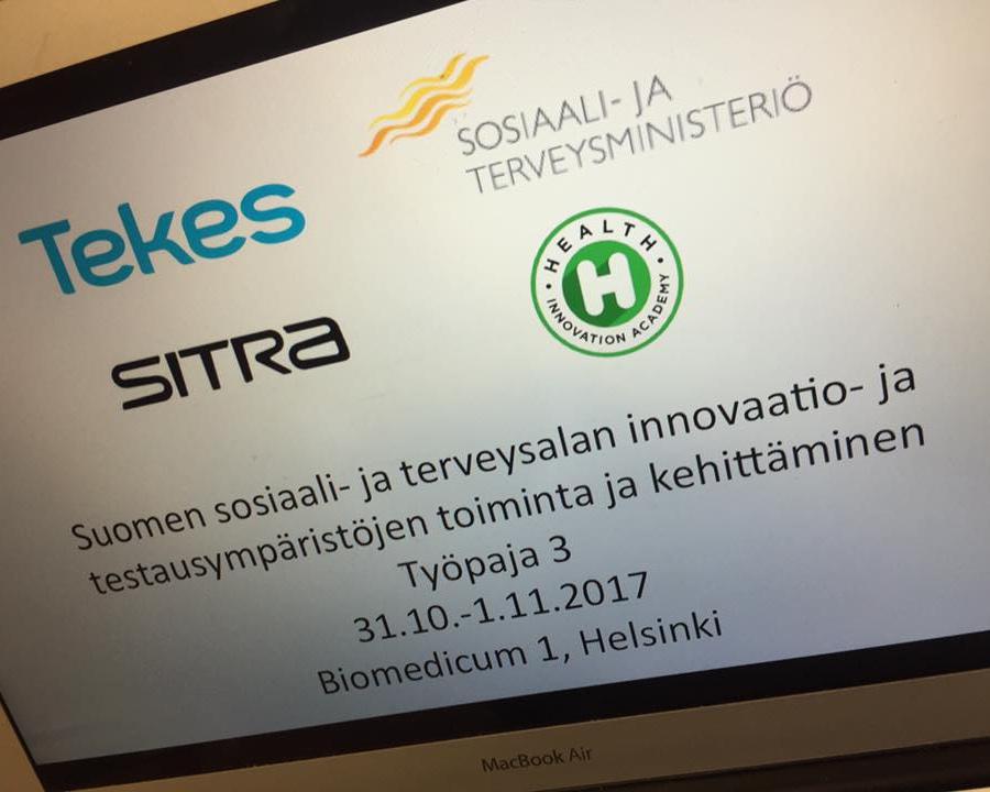 Fasilitoimme onnistuneesti Tekesin innovaatiotyöpajat Helsingissä, Turussa ja Oulussa. Työpajojen aiheena oli Suomen sote-alan innovaatio- ja testausympäristöjen toiminta ja kehittäminen. Kuva: Eeva Kiuru
