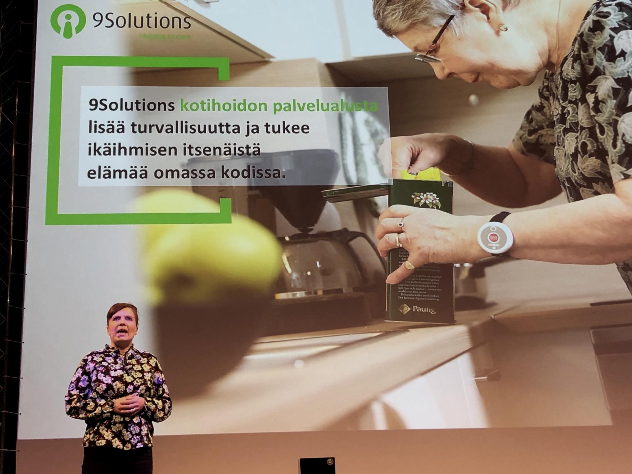 Hyvinvointiteknologian tuotteet esillä TERVE-SOS -tapahtumassa Oulussa. Vuorossa 9Solutions.