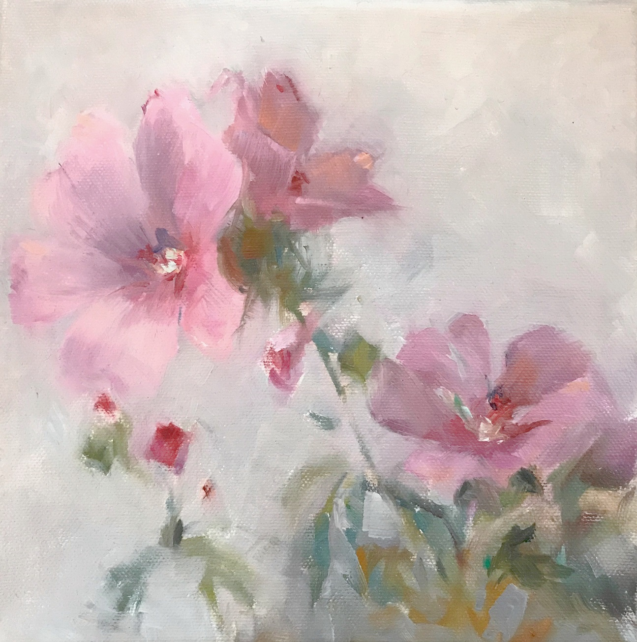 Rose Mallow, 350€, 20x20 cm