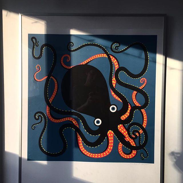 Poulpe du soir Bonsoir. Dans l'atelier.  #charlottegastautcollections #silkscarf #silkscreen #poulpe  #octopus