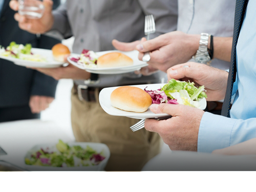 CORPORATE EVENTS - Feast also caters for corporate events. Whether your business is big or small, we can supply you, your clients and employees with a lunch or evening menu that can be adapted to suit your needs. Whether you need corporate lunches, client dinners or food for event openings, we have a range of platters to choose from, salad options, soups, artisan sandwiches & wraps, sushi platters, hot platters and canapes and are also available. If you are unsure what you may need why not Contact Us and we can help you organise your business Feast.