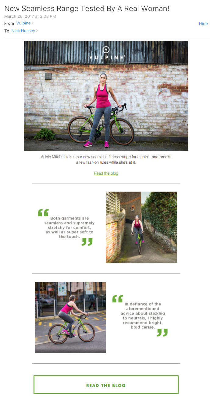 vulpine cycling adele mitchell older cyclist marketing email.png