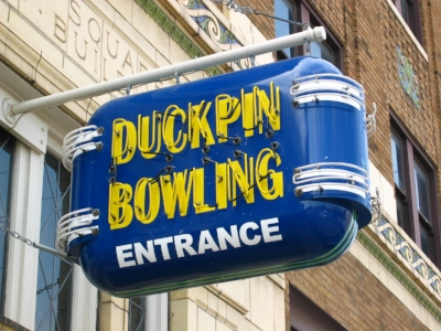 Atomic & Action Duckpin Bowling in Fountain Square