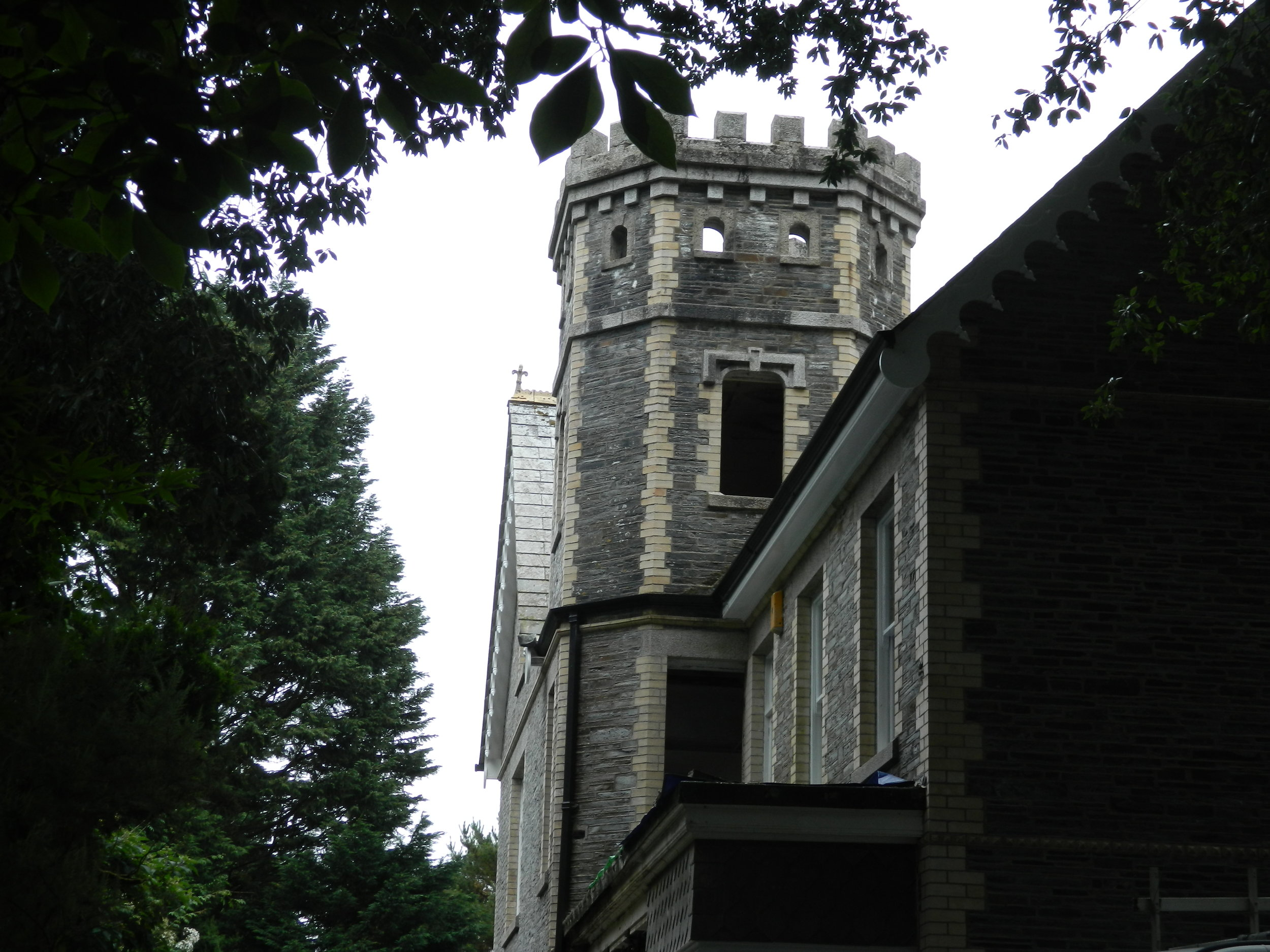 The Crag - great view of turret from driveway.jpg