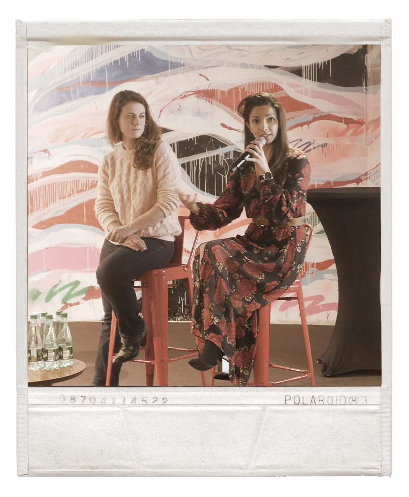 Nora Gherbi et Sylvia Randazzo à l'hôtel Molitor