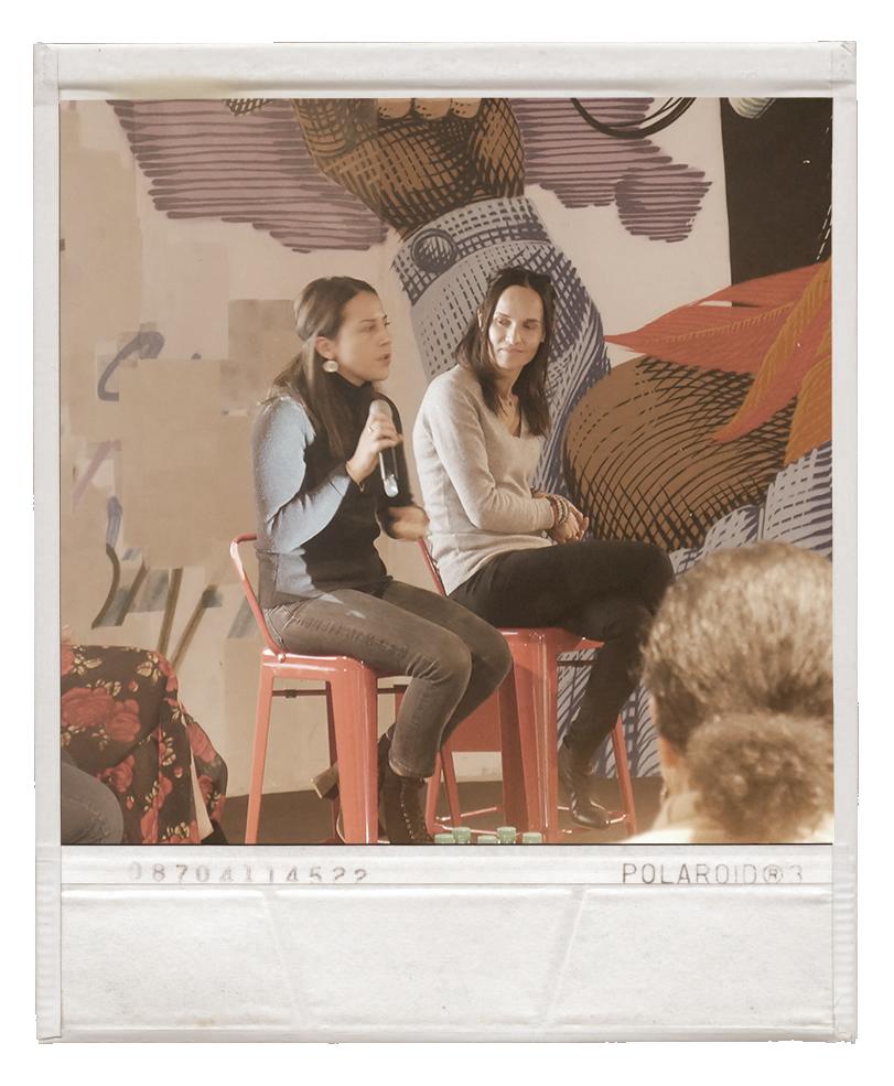 Nora Gherbi et Letizia Calcamo à l'hôtel Molitor