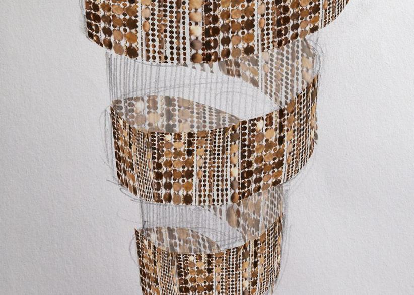 Julia Bornefeld,  Copper Matrix  (Detail), 2017. Courtesy Antonella Cattani contemporary art