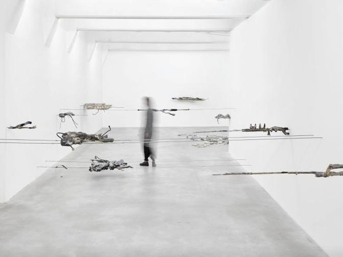 Giulia Cenci, ground-ground, 2017, exhibition view, SpazioA, Pistoia