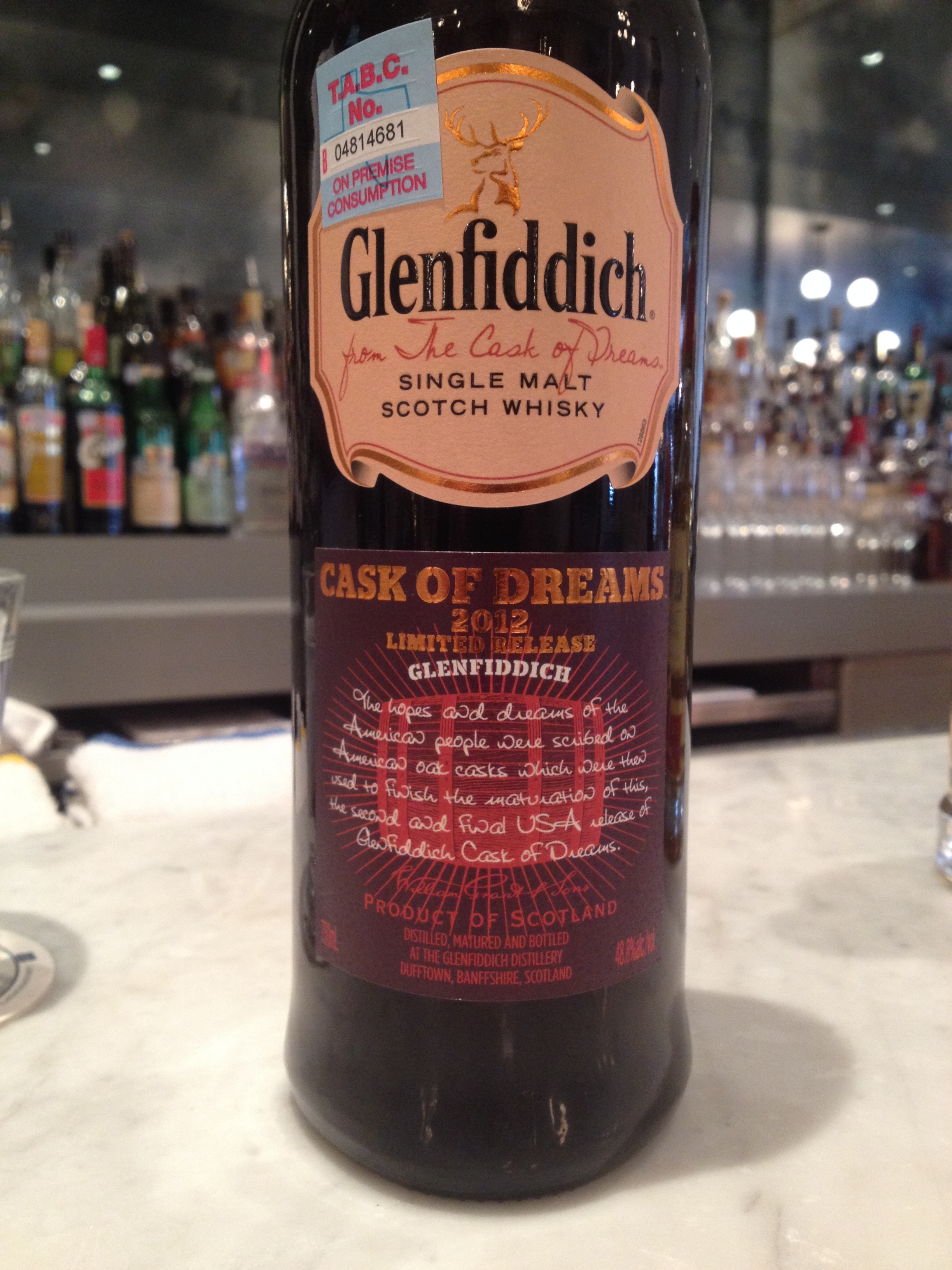 Glenfiddich Cask of Dreams.JPG