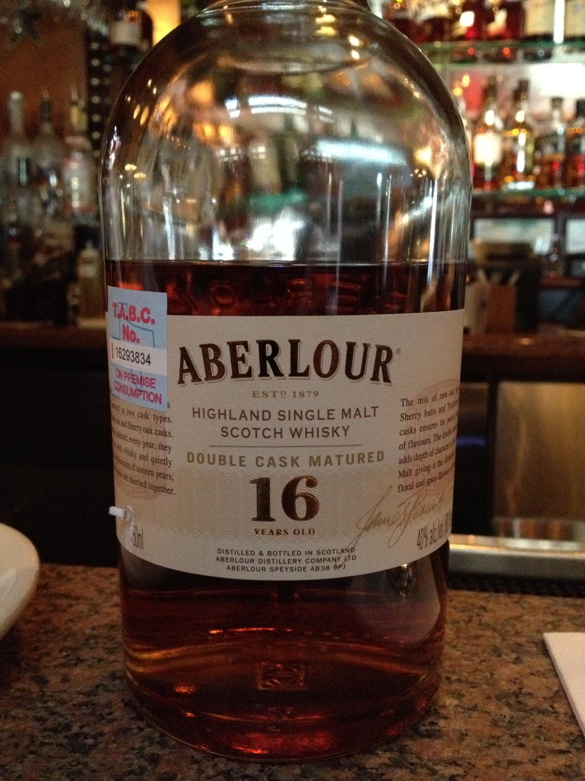 16 Year Old   40% ABV - Distillery   Aberlour