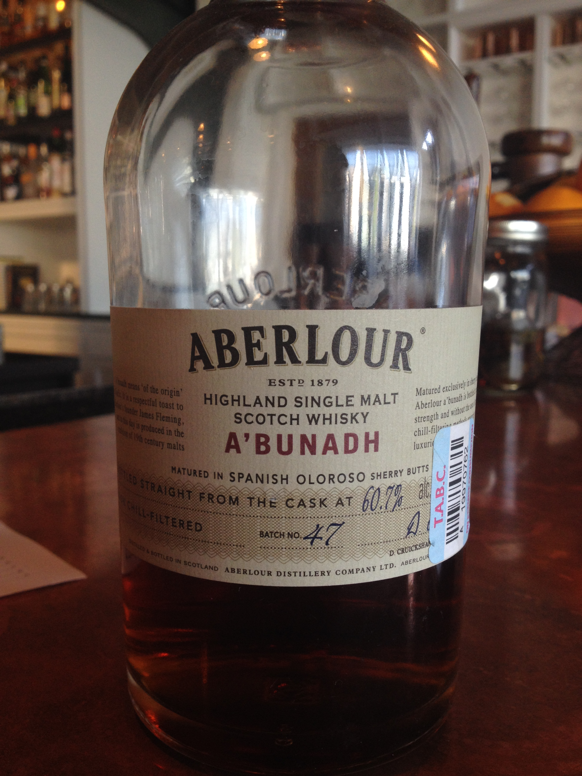 NAS | 60.7% ABV - Distillery | Aberlour