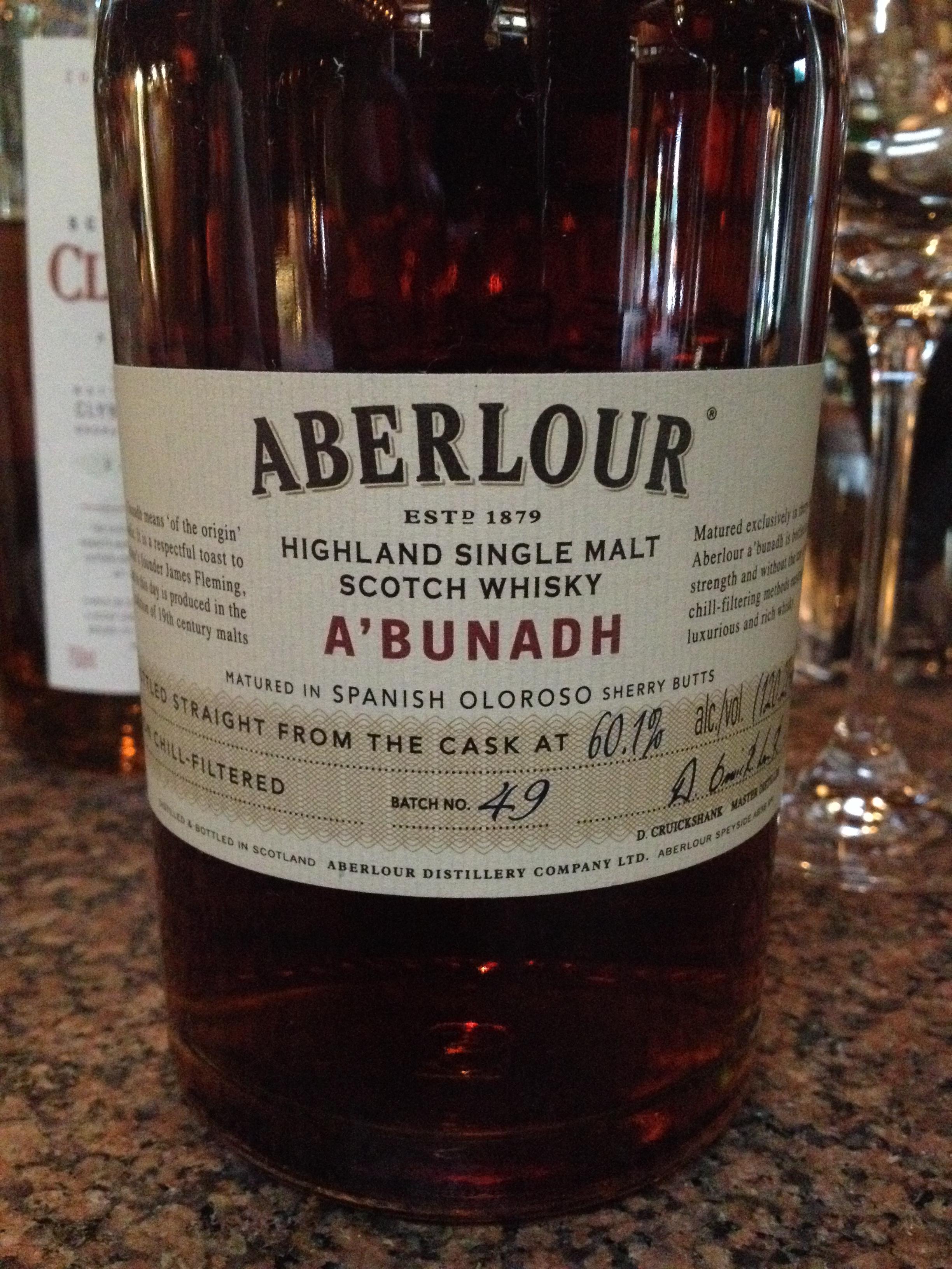 NAS   60.1% ABV - Distillery   Aberlour