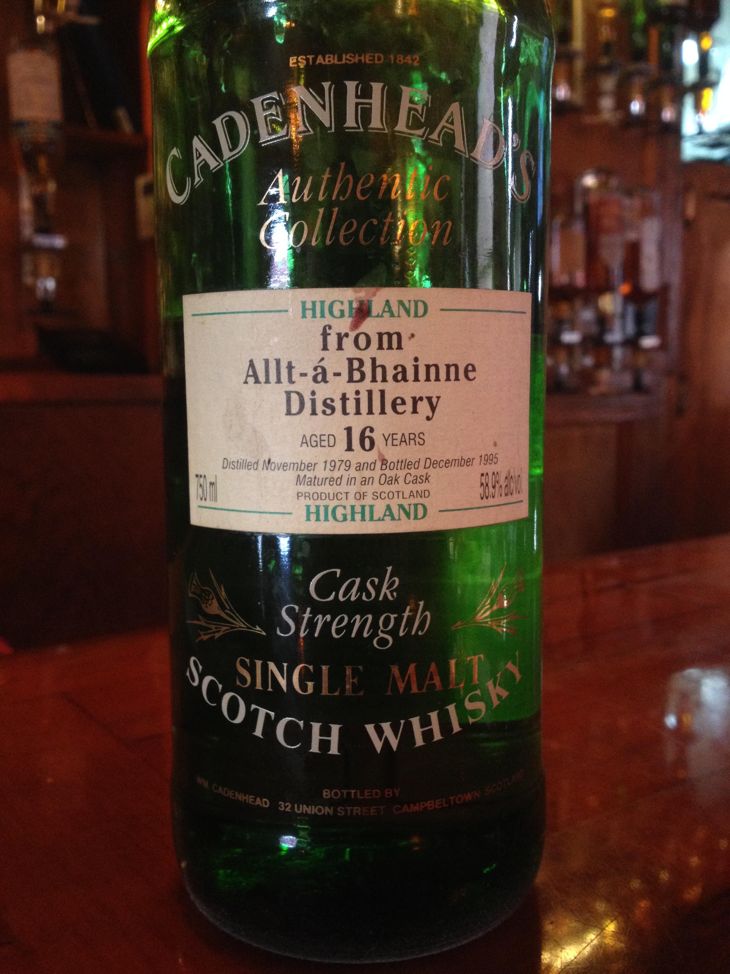 16 Year Old | 58.9% ABV - Distillery | Allt-á-Bhainne
