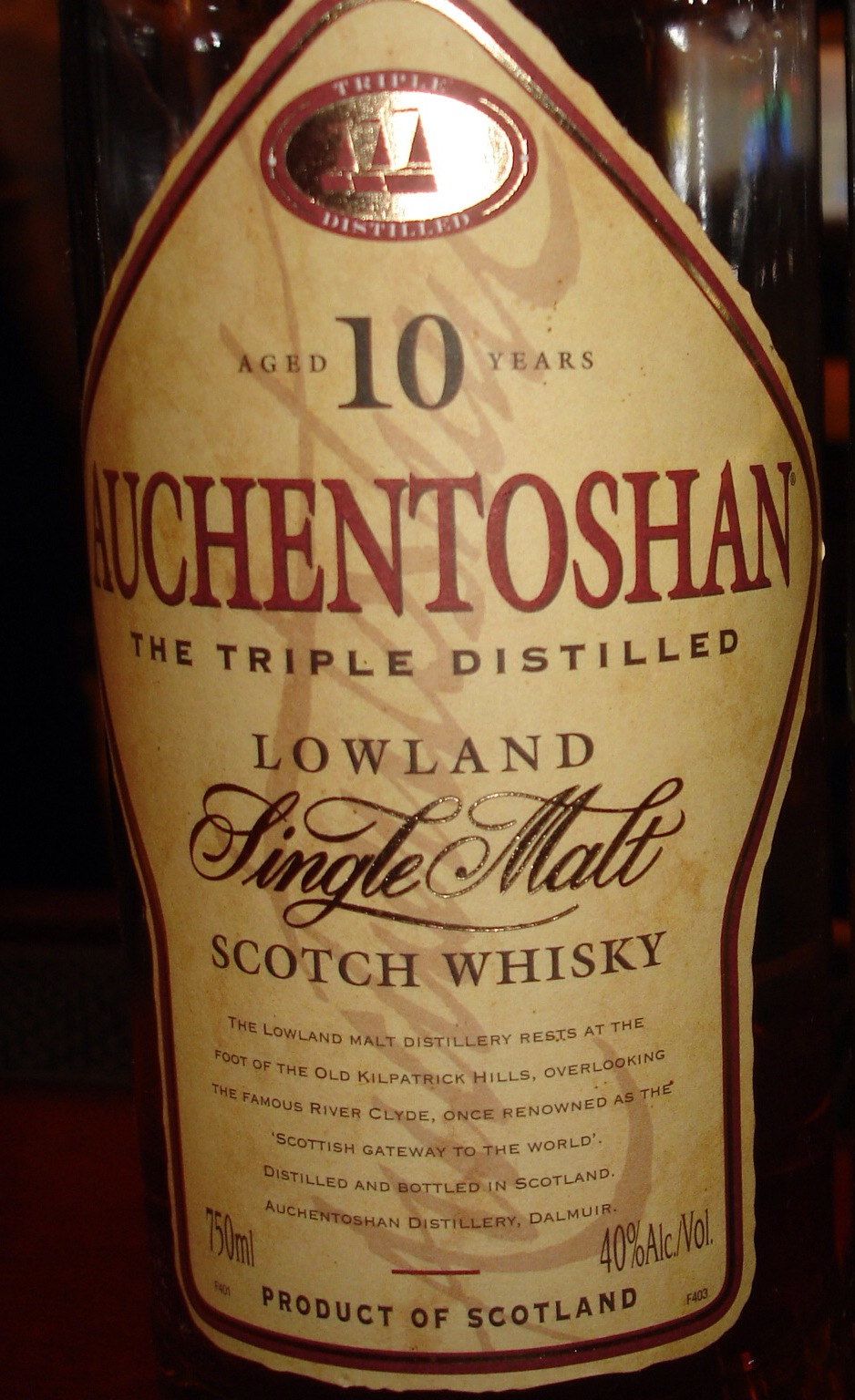 10 Year Old | 40% ABV - Distillery | Auchentoshan