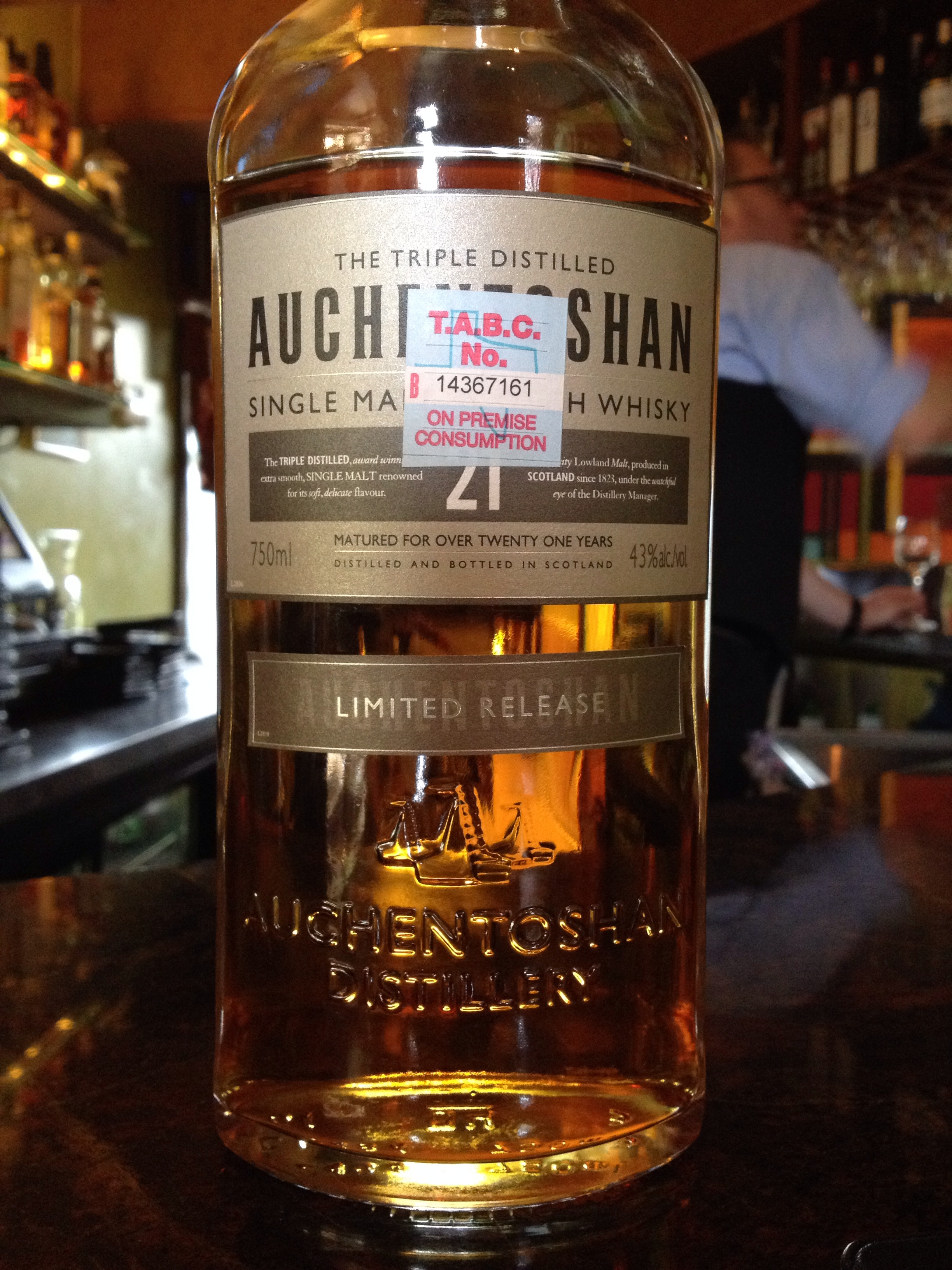 21 Year Old | 43% ABV - Distillery | Auchentoshan
